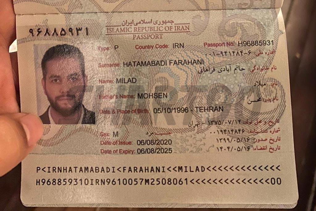 عکس پاسپورت میلاد حاتمی