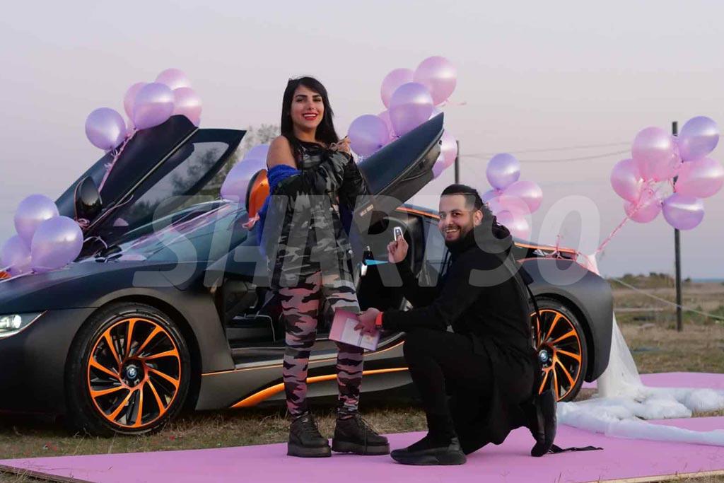 میلاد حاتمی و همسرش سحر